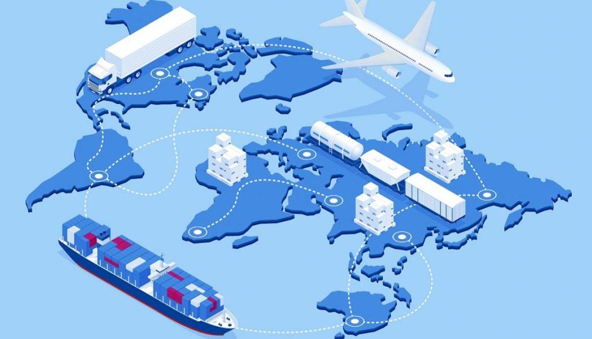 preprava tovaru z Číny vlakom morom letecky